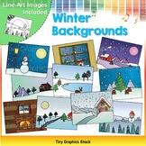 Winter Background Clip Art