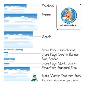 Winter Background for Blogs, Stores and Social Media