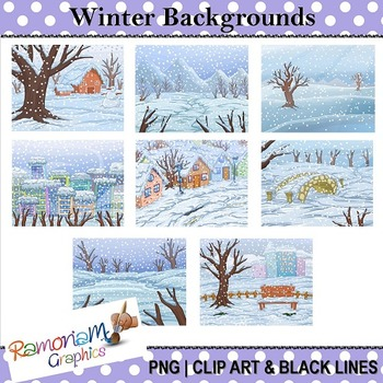 Winter Backgrounds Clip art