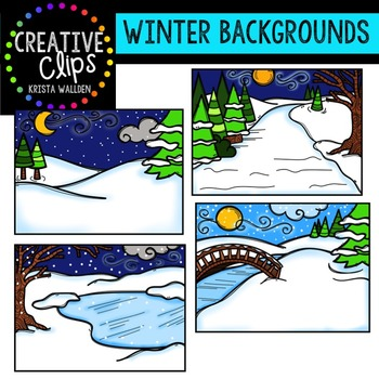 Winter Backgrounds {Creative Clips Digital Clipart}