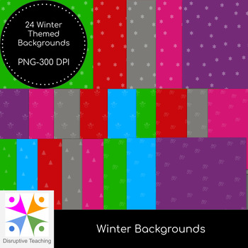 Winter Backgrounds-Perfect for Christmas Activities