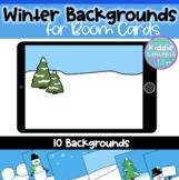 Winter Backgrounds for Boom Cards™ - Digital Task Card Bac