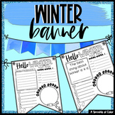 Winter Flag Worksheet - Create a Classroom Banner
