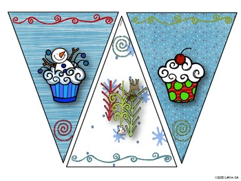 Winter Banner and Student Writing Activity