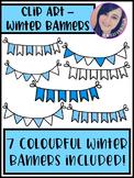 Winter Banners Clip Art - FREEBIE!
