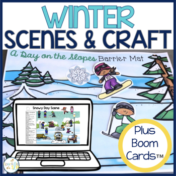 Winter Barrier Activity and Craftivity for Speech and Language Development