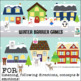 Winter Barrier Games {for listening, following directions,