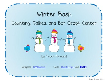 Winter Bash Tally and Bar Graph Math Center
