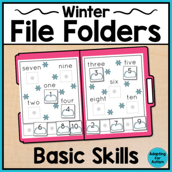 Winter File Folder Activities for Special Education and Autism - Basic Skills