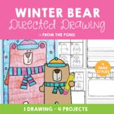 Winter Bear Directed Drawing