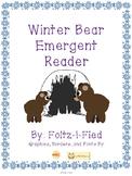 Winter Bear Emergent Reader