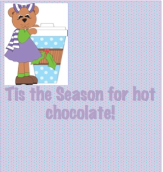 Winter Bear Hot Cocoa Popcorn Printable Wrapper Student Gift