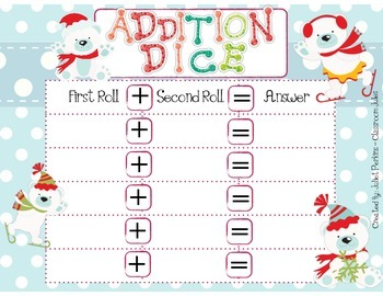 Winter Bears Math {FREEBIE} - Addition and Subtraction of Two Digit Numbers