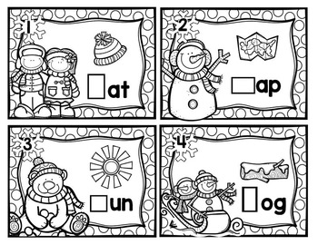 Winter Beginning Sound Task Card Activities