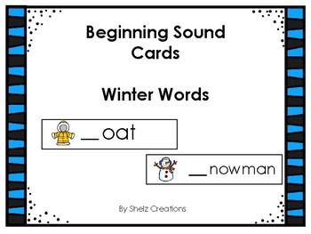 Winter Beginning Sound Word Cards