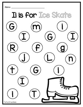 Winter - Beginning Sound and Letter Recognition Do-A-Dot Printables