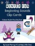 Winter Beginning Sounds Clip Cards