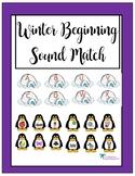 Winter Beginning Sounds Match