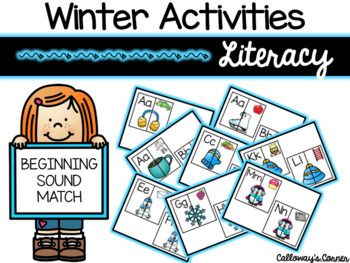 Winter Beginning Sounds Match