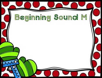 Winter Beginning Sounds Scoot Literacy Center