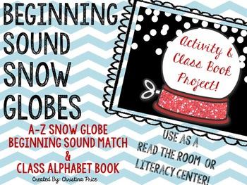Winter Beginning Sounds Snow Globes and Class Book