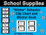 Winter Behavior Clip Chart AND Sticker Book