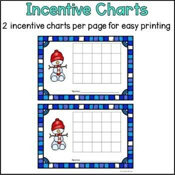 Winter Behavior Incentive Charts