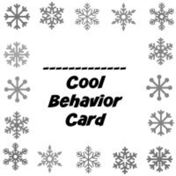 Winter Behavior Punch Card Pack