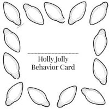 Winter Behavior Punch Card Pack