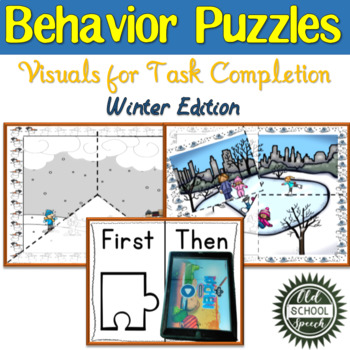 Winter Behavior Puzzle: Visuals for Task Completion