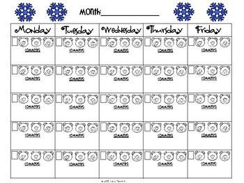 Winter Behavior Sheets