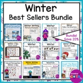 Winter Best Sellers Literacy and Math Center Bundle