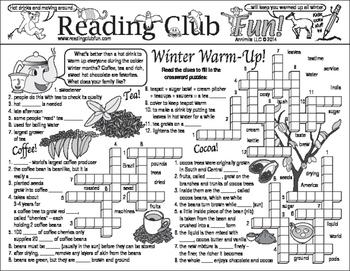 Winter Beverages and Activities (Indoor & Outdoor) Two-Page Activity Set