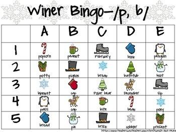Winter Bingo-Articulation