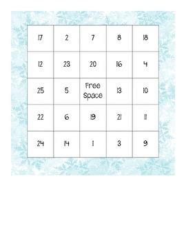 Winter Bingo Boards