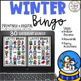 Distance Learning Winter Bingo   Game   Digital and Printa