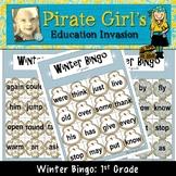 Winter Bingo Game (Dolch 1st Grade)