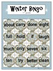 Winter Bingo Game (Dolch 3rd Grade)