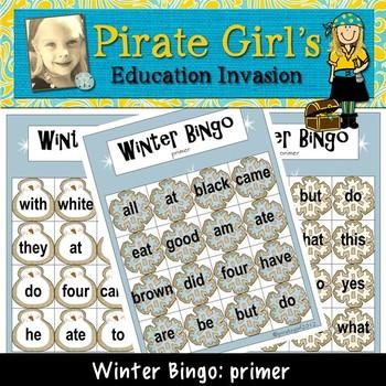 Winter Bingo Game (Dolch primer)