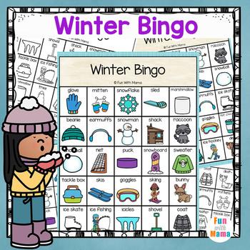 Winter Bingo Game For Classroom