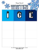 Winter Bingo Game Set with flashcards
