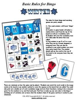 Winter Bingo / Matching Activities