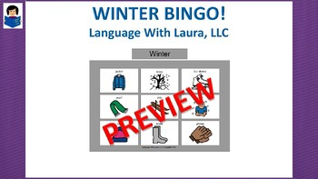 Winter Bingo! Multiple Boards [speech therapy and autism]