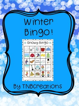 picture regarding Winter Bingo Cards Free Printable known as Winter season Bingo Playing cards Worksheets Education Elements TpT
