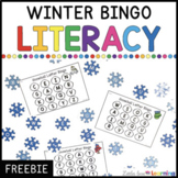 Winter Bingo and Dot Literacy Activities for Letters and Sight Words