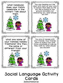 Winter Bingo for Speech and Language