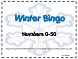 Winter Number Bingo-for a variety of levels