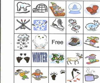 It's just a graphic of Remarkable Winter Bingo Cards Free Printable