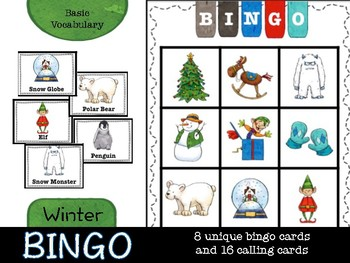Winter Bingo (basic vocabulary practice)