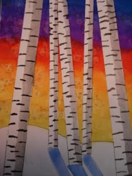 Winter Birch Tree Project